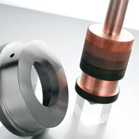 EDM Worm gear using copper electrode and C-axis rotating head
